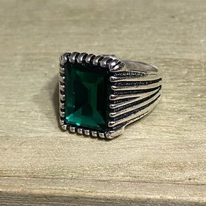 Other - 3/$25 Size 11 Green Emerald Statement Ring